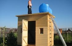 Как построить душ на даче.
